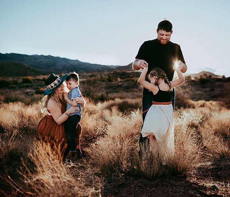 Family Golden Hour Photoshoot Arizona | All Heart Access | Tessa Rae Photography