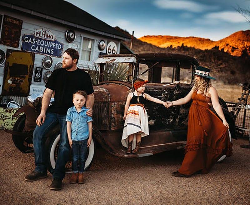 Family Styled Shoot Gas Station Boho Route 66 | All Heart Access | Tessa Rae Photography
