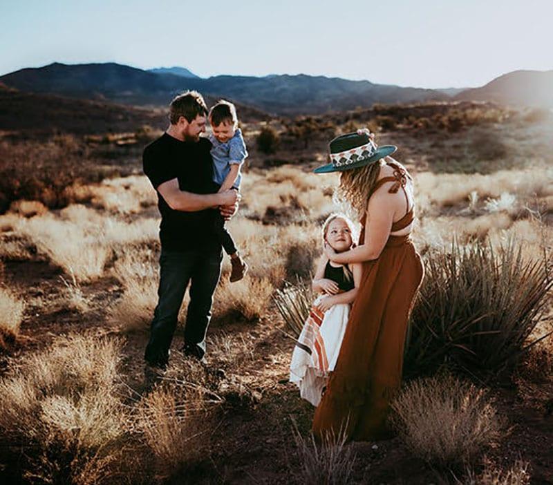 Golden Hour Photos in Desert | All Heart Access | Tessa Rae Photography